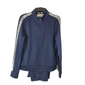 Tory Burch Sports Track Suit Blue Breakaway Pants